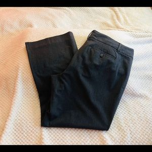 LOFT Gray Julie Trouser Size 14
